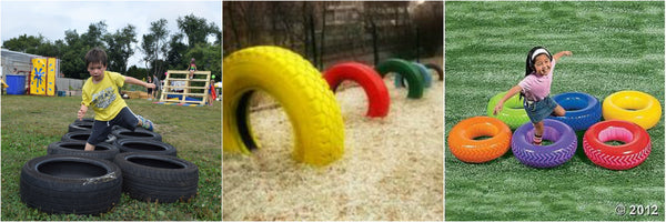 DIY Nerf Tire Obstacle, Raytheon Toys