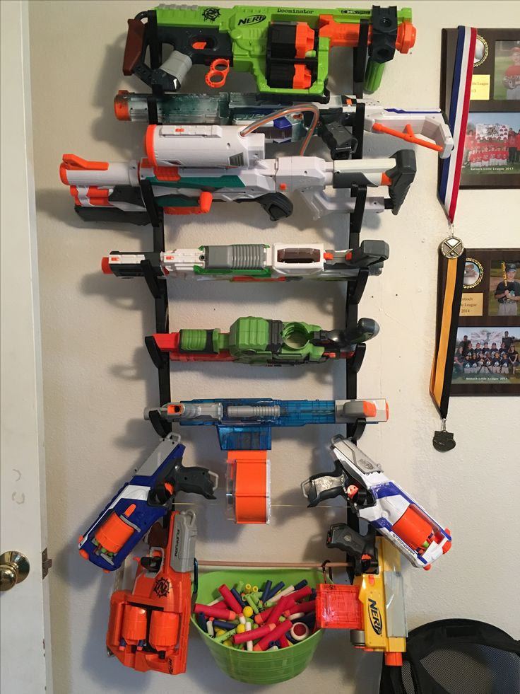 Cheap and Easy Nerf Storage Ideas