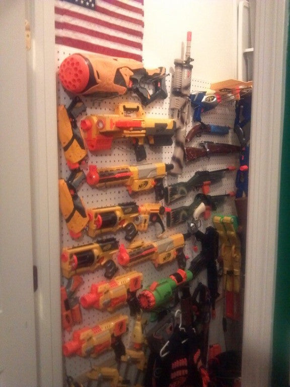 Storage Option: Hidden Nerf wall in closet