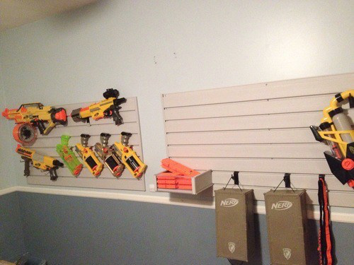 Storage Option: Slatwall Nerf Closet