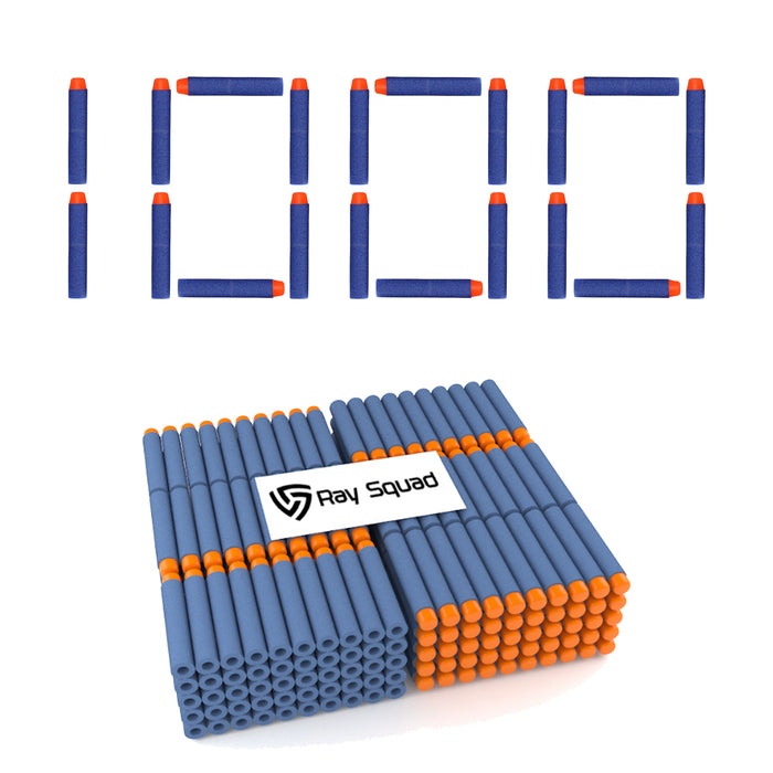 1000 Pack Blue Nerf Compatible Darts
