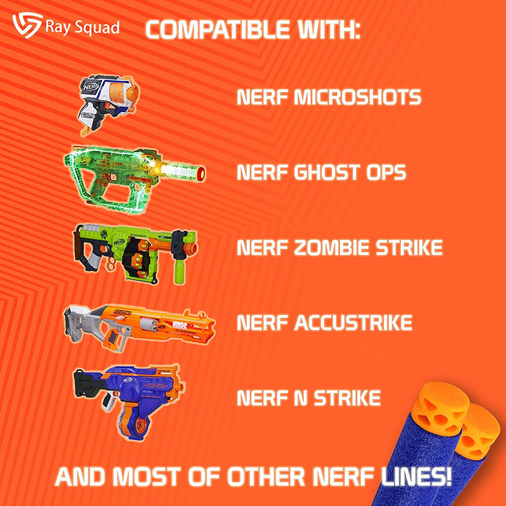 Ray Squad Waffle Darts 100-Pieces Set, Ultimate Nerf Foam Toy Darts, Premium Refill Bullets for N-Strike Guns, Universal Mega Pack, Firm and Safe Nerf Accessories Amazing Precision Control