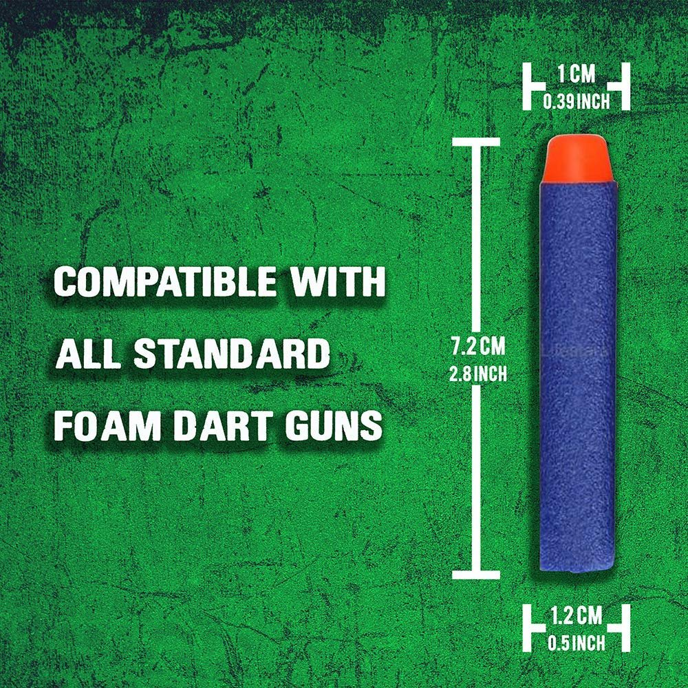 300 Pack, Nerf Compatible Foam Toy Darts by Ray Squad, Premium Refill Bullets for N-Strike Elite Guns, Universal Dart Ammo Pack, Firm and Safe Nerf Gun Compatible Bullet Accessories