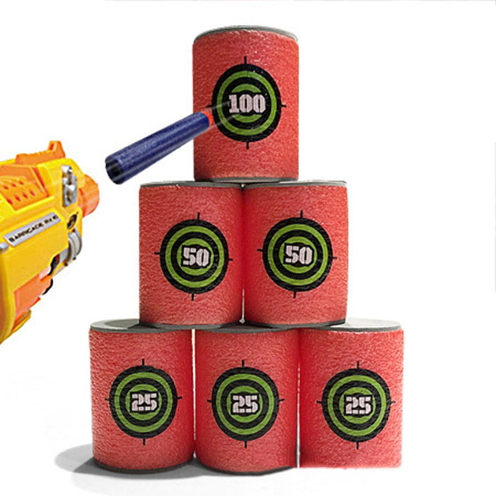 6 Count Foam Targets