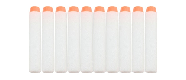 100 Pack White Luminous Glow in the Dark Nerf Compatible Darts