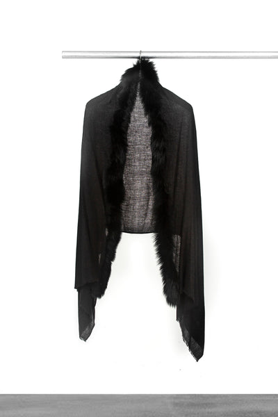Black Fur Shawl