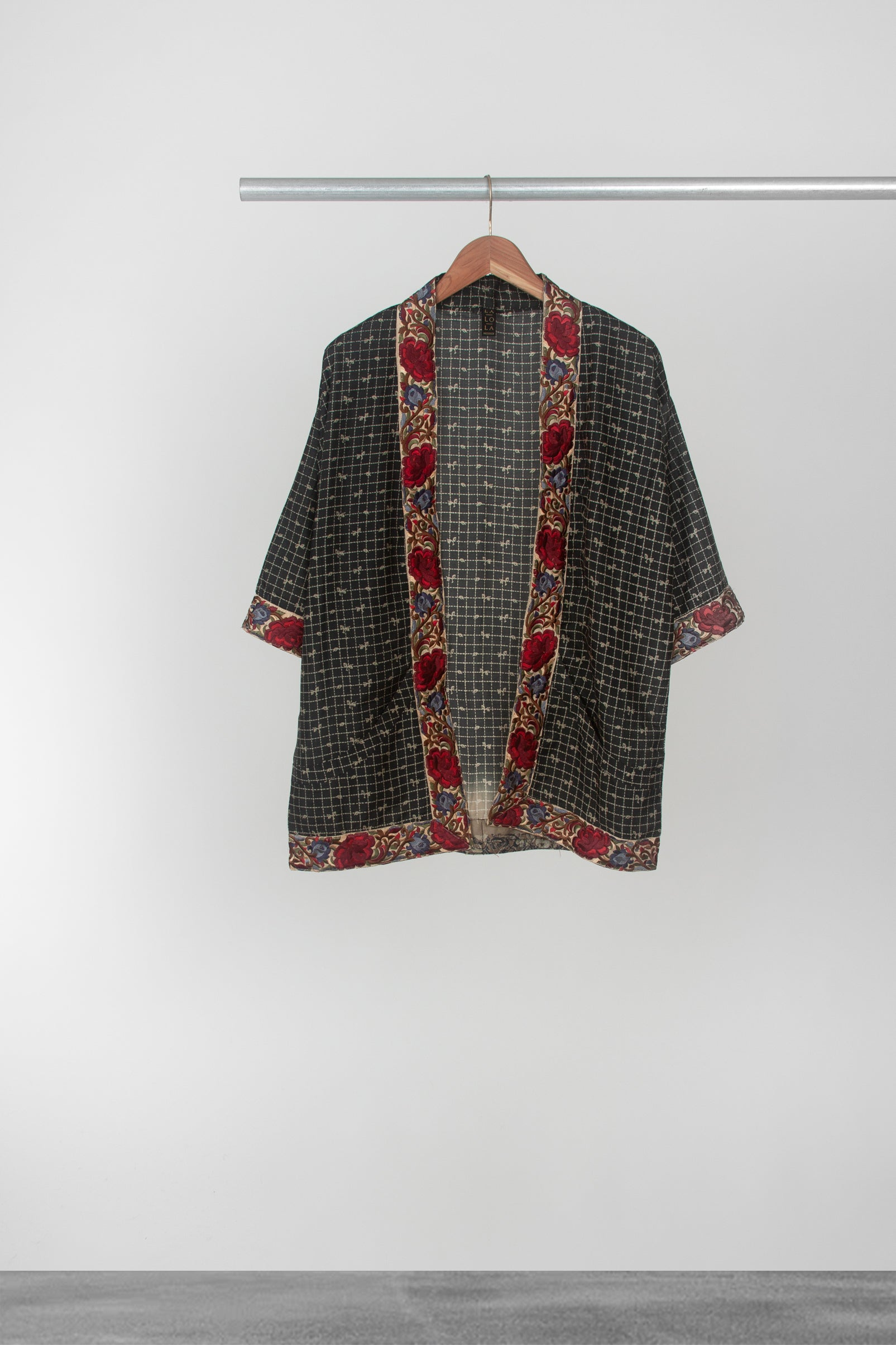 Checkered Rose Kimono - La Lo La Clothing