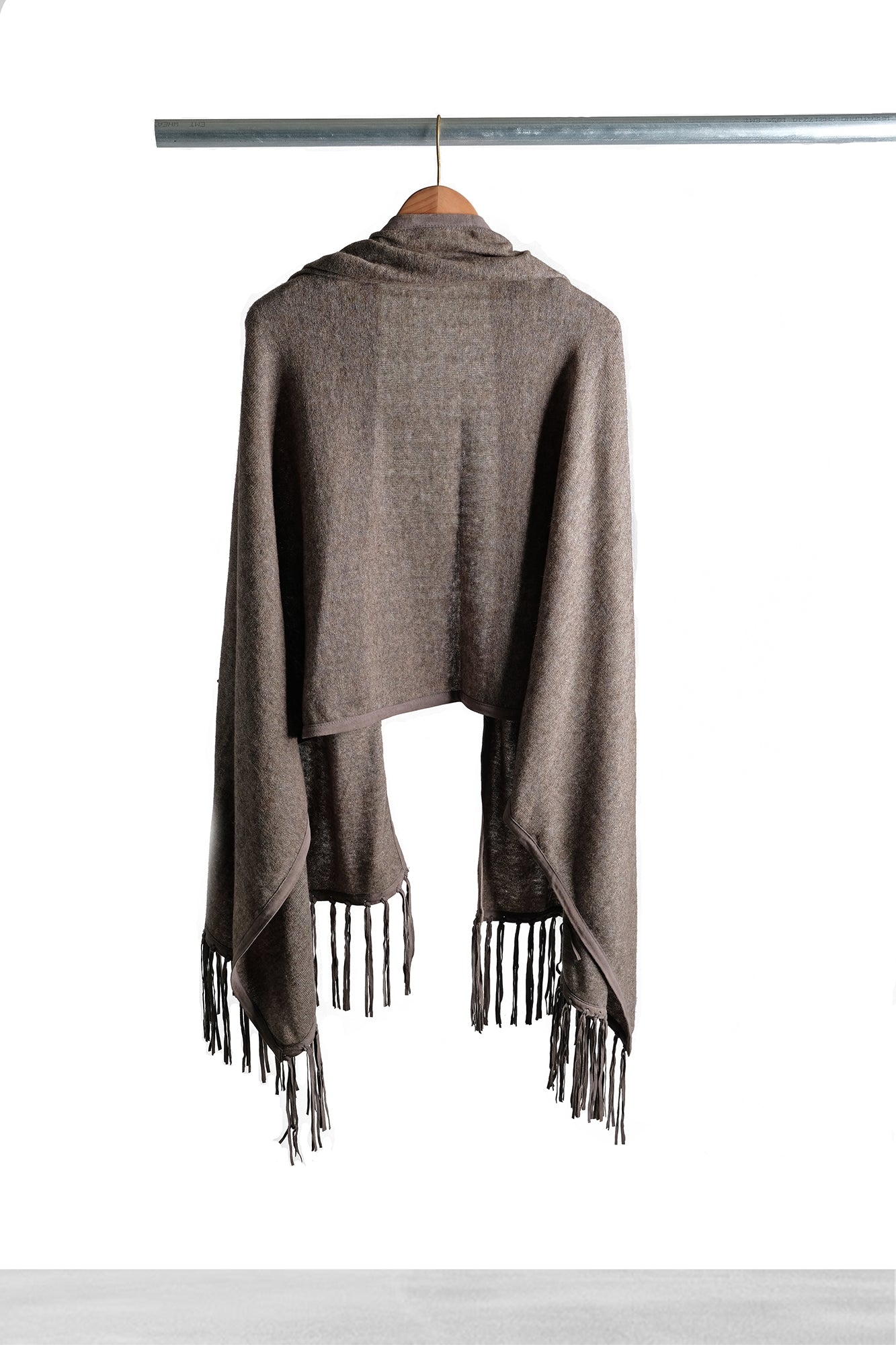 Cocoa Shawl with Fringe
