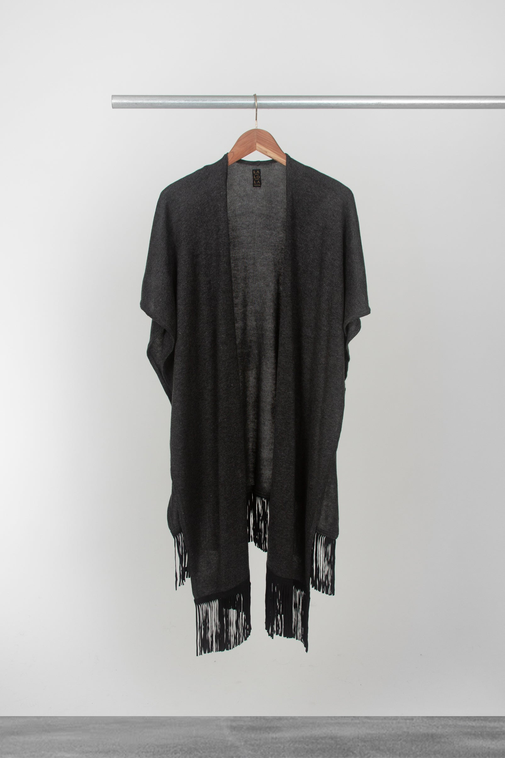 Dark Grey Cape - La Lo La Clothing