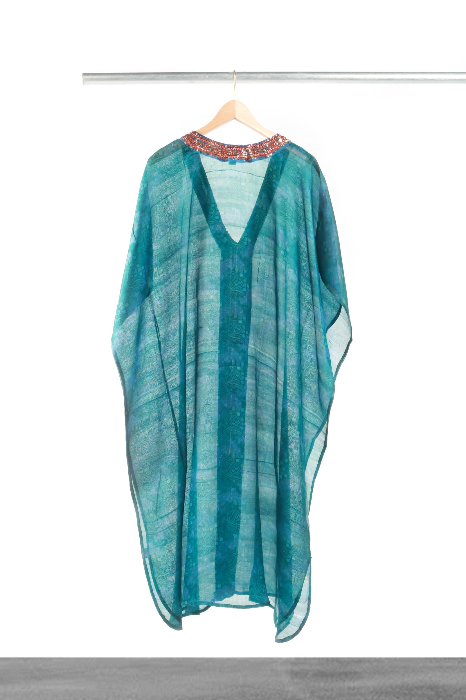Feel the Teal Kaftan