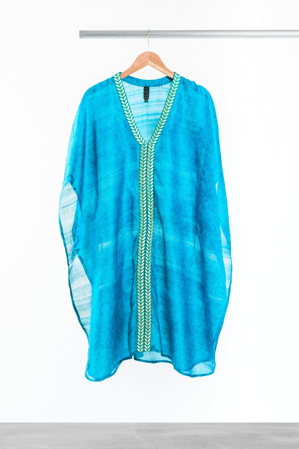 Golden Emerald Kaftan - La Lo La Clothing