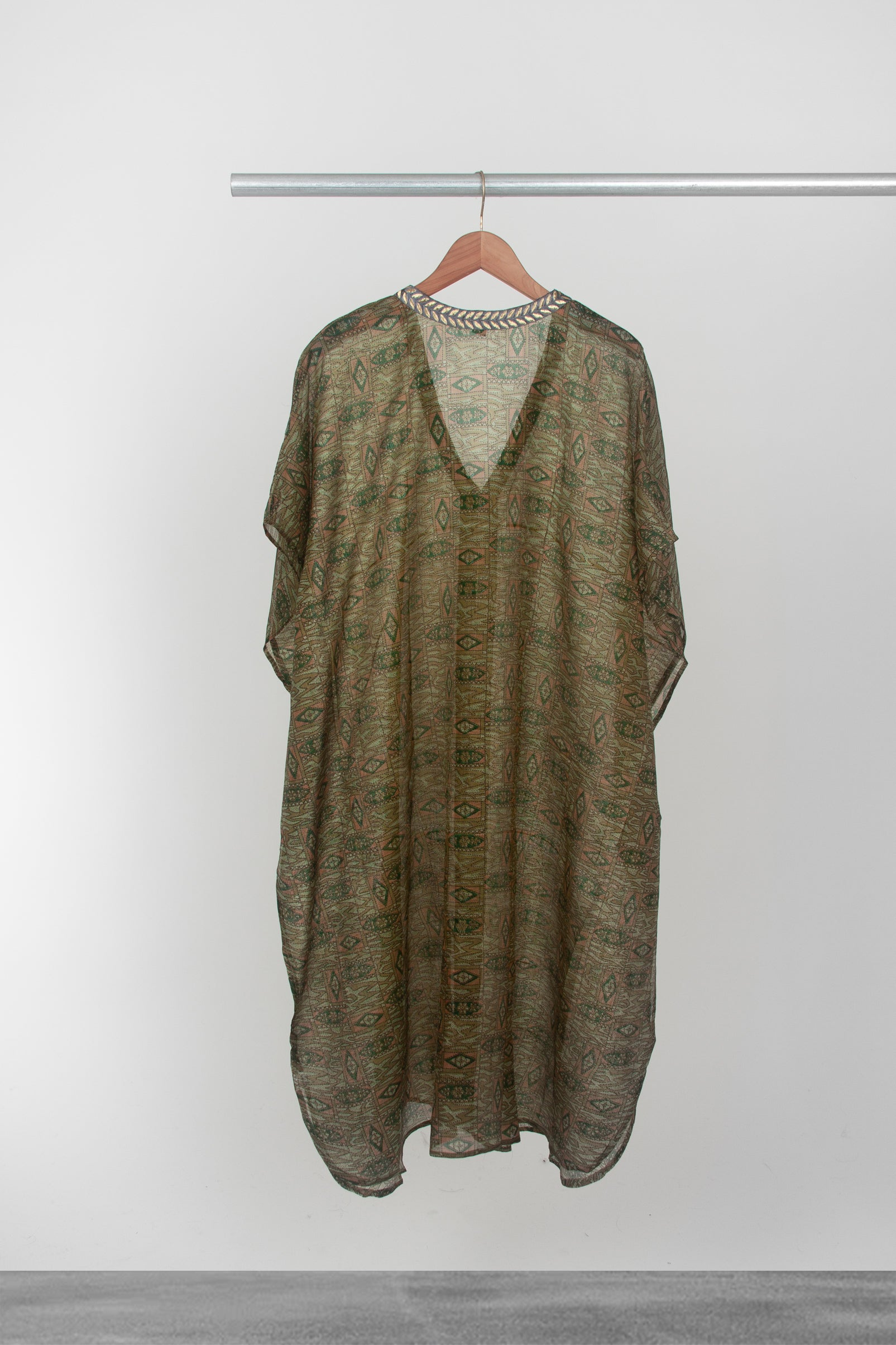 Green Diamond Kaftan - La Lo La Clothing