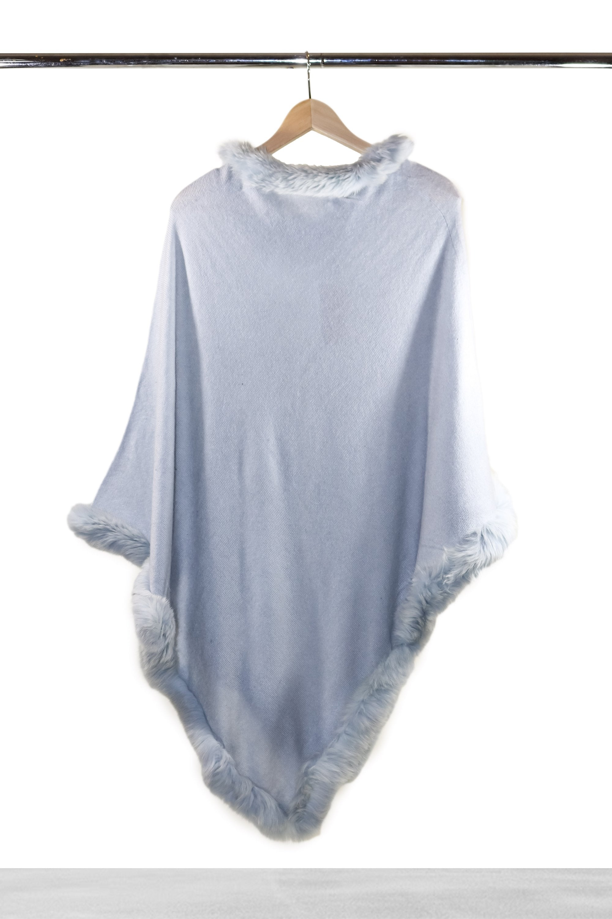 Ice Blue Fur Poncho