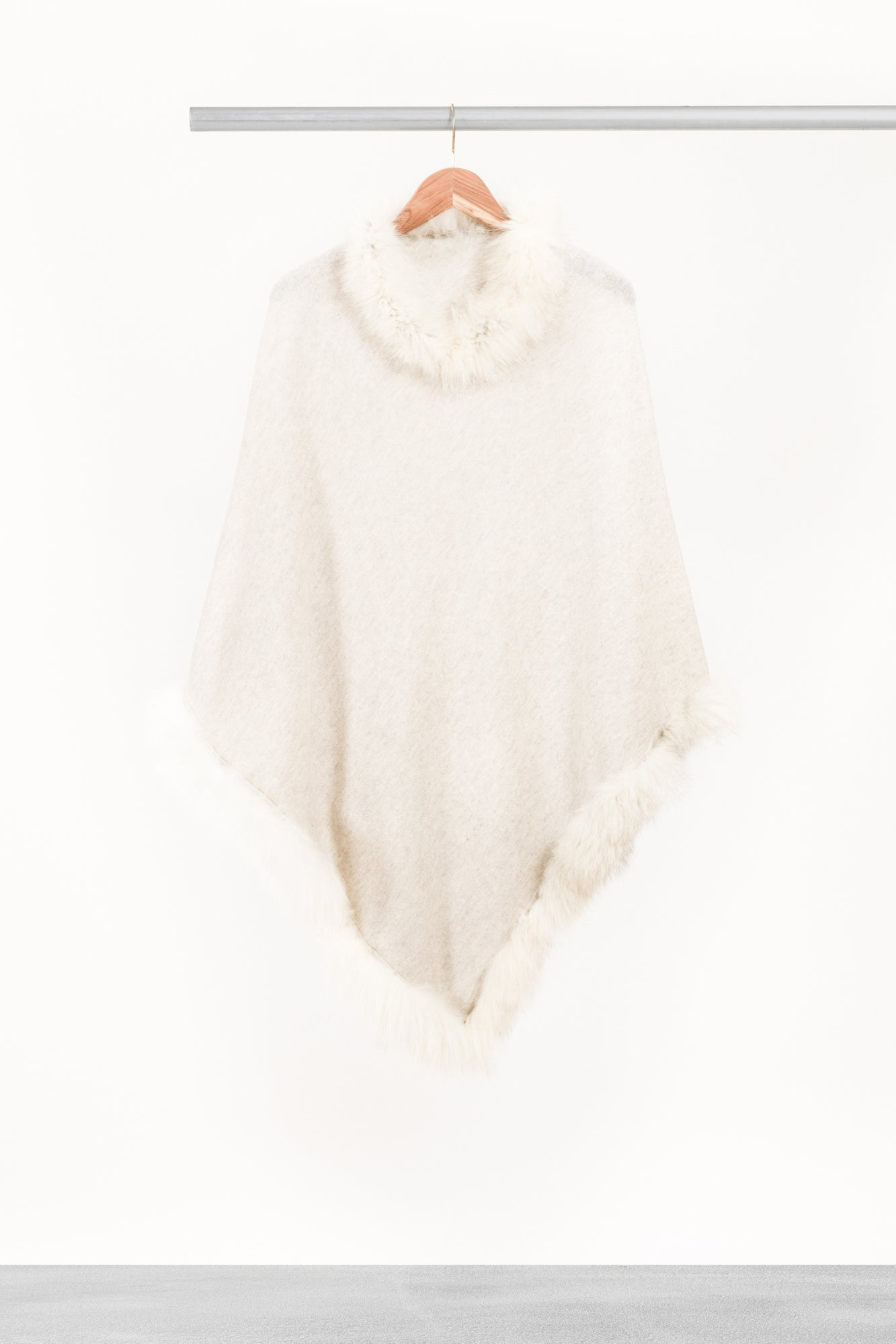 Light Cream Fur Cape