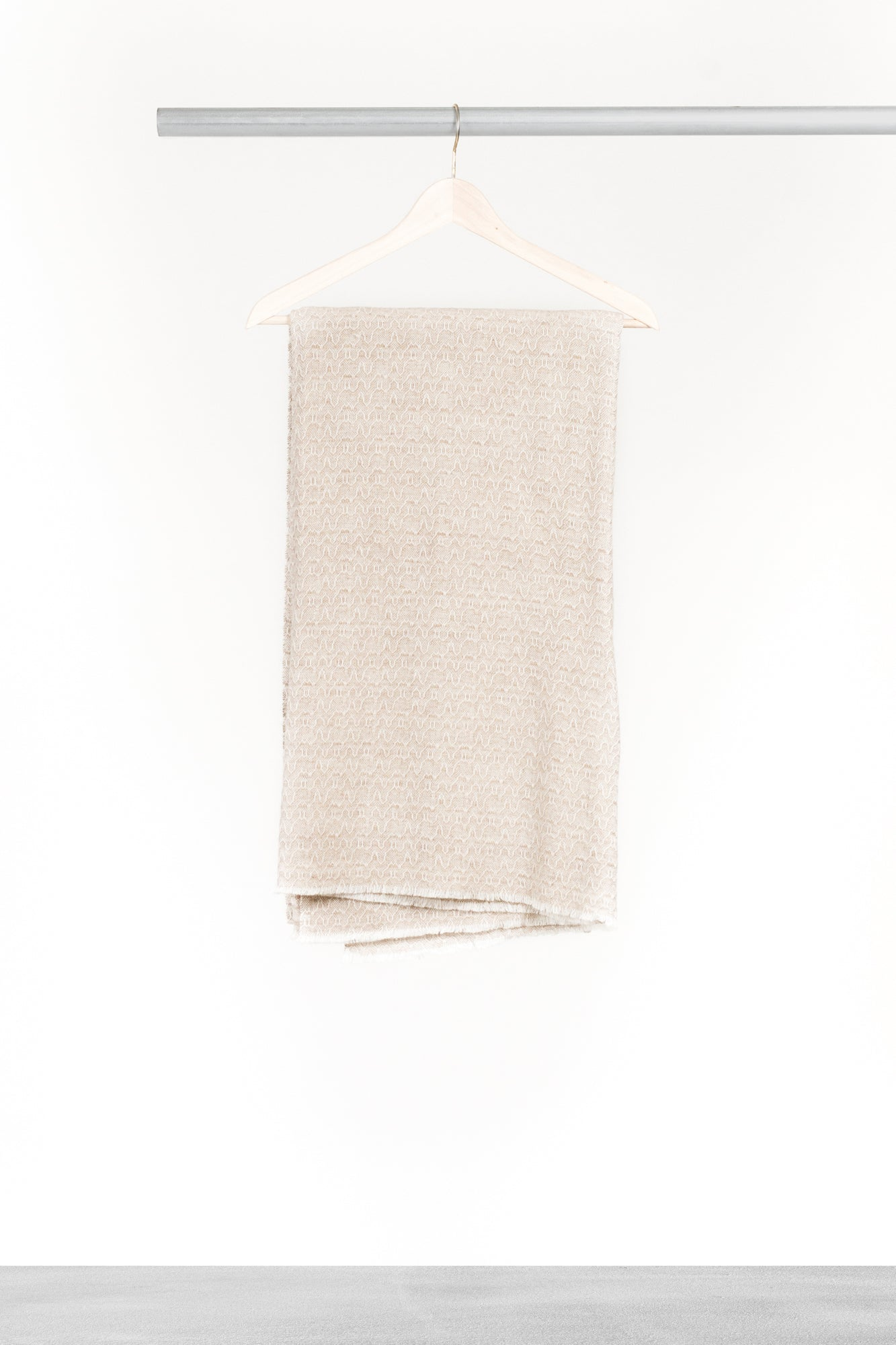 Light Oatmeal Cashmere Blanket
