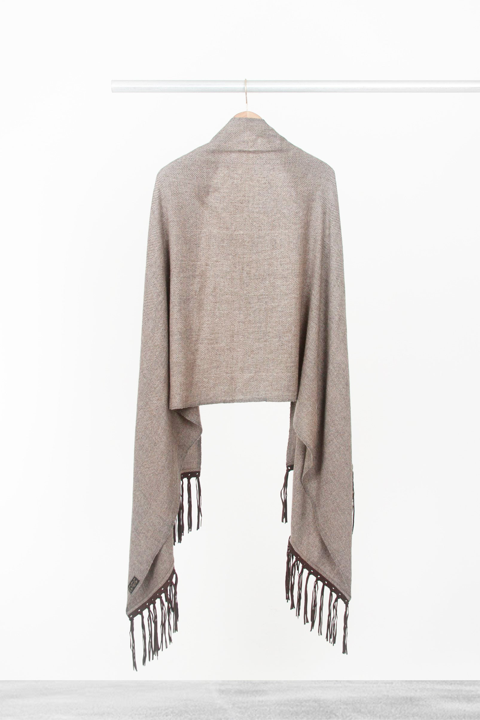 Mocha Shawl With Fringe