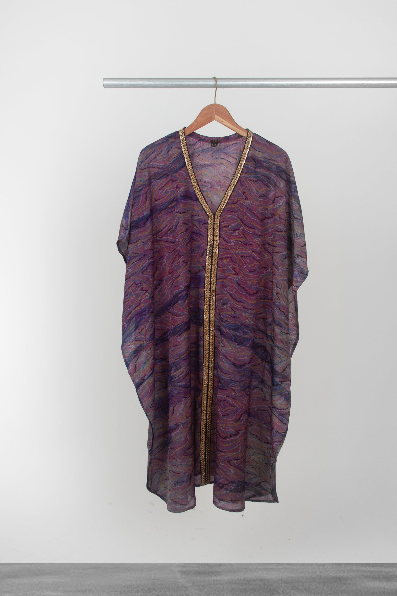 Purple Swirl Kaftan - La Lo La Clothing