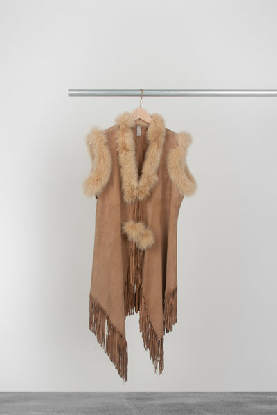 Summer Wheat Suede Vest - La Lo La Clothing