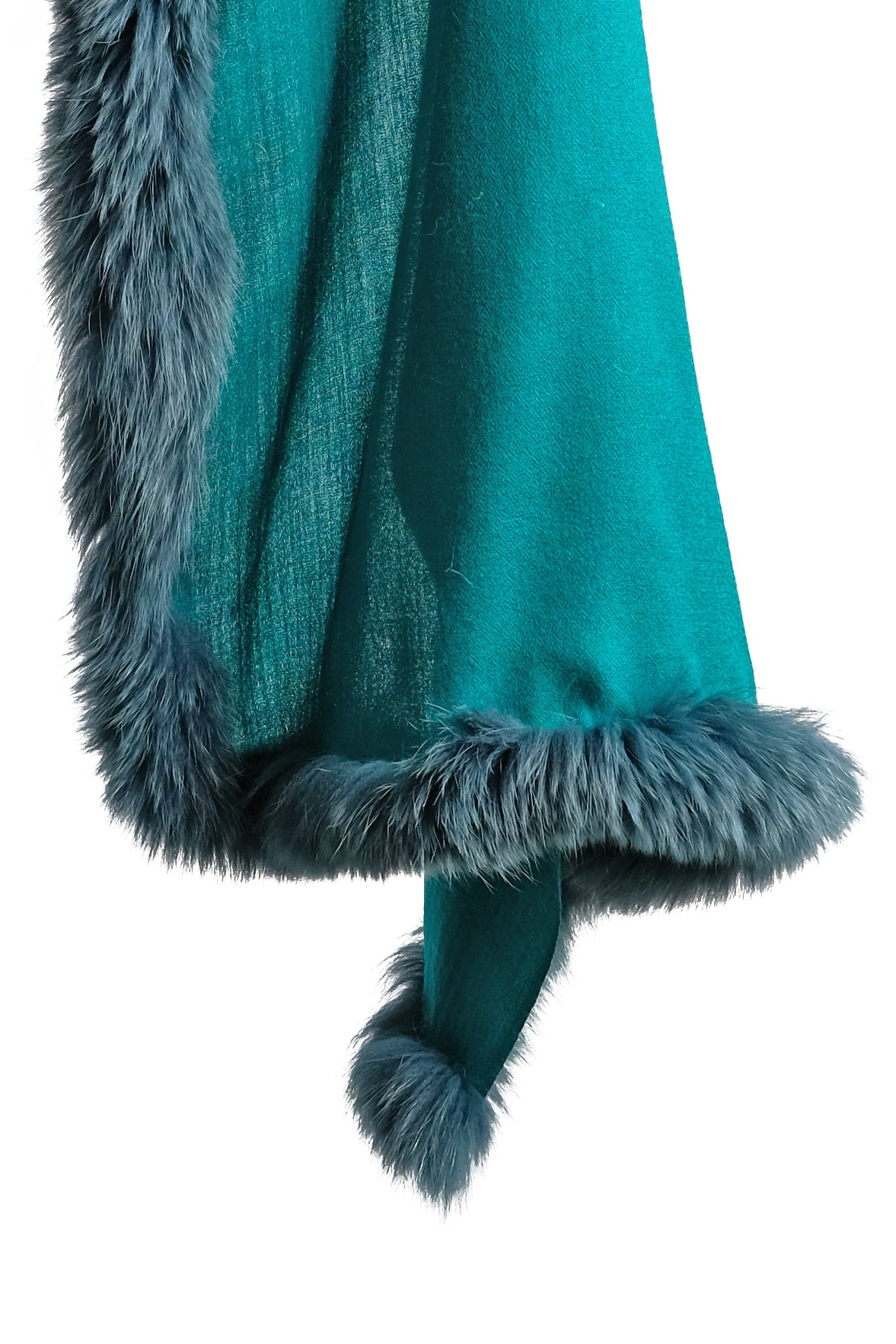 Teal Fur Shawl