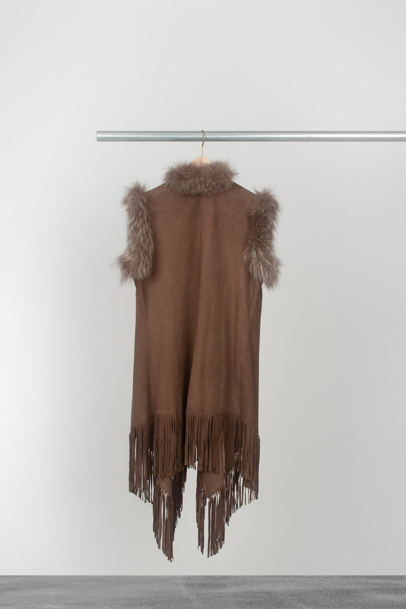 Walnut Suede Vest - La Lo La Clothing