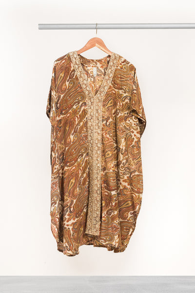 Winter Wheat Mid-length Kaftan - La Lo La Clothing