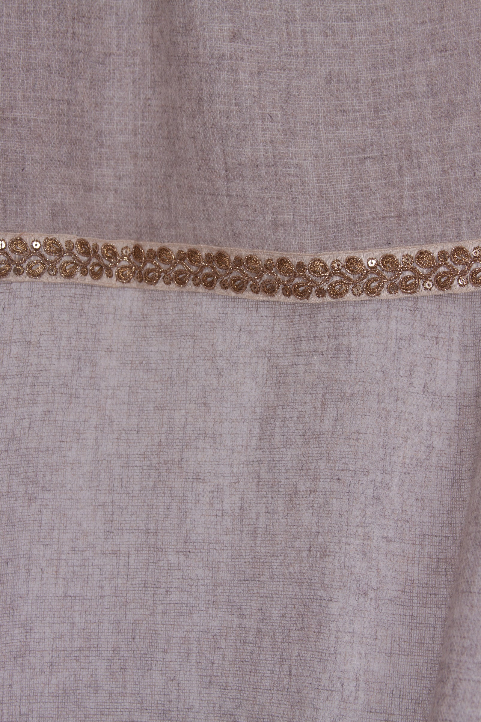 Woven Oatmeal Shawl with trim - La Lo La Clothing