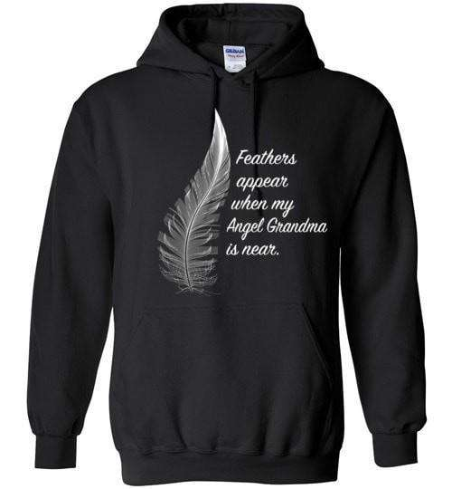 Feathers Appear When My Angel Grandma Is Near Hoodie - Guardian Angel Collection