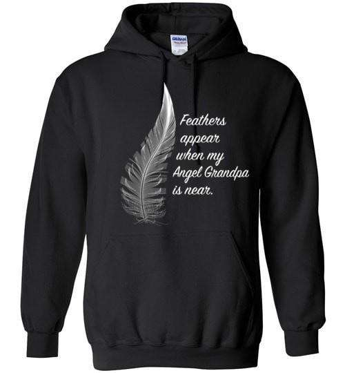 Feathers Appear When My Angel Grandpa Is Near Hoodie - Guardian Angel Collection