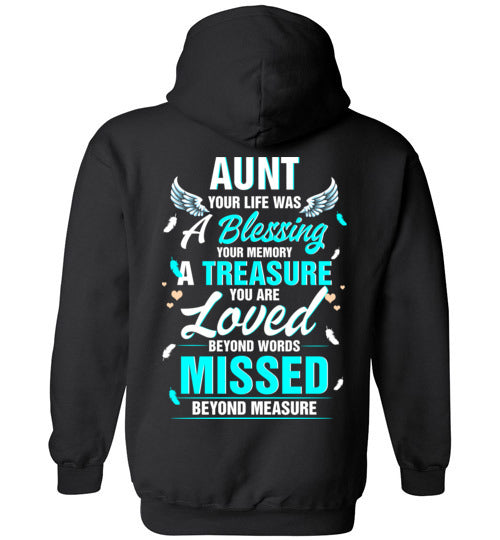 Aunt - Your Life Was A Blessing Hoodie