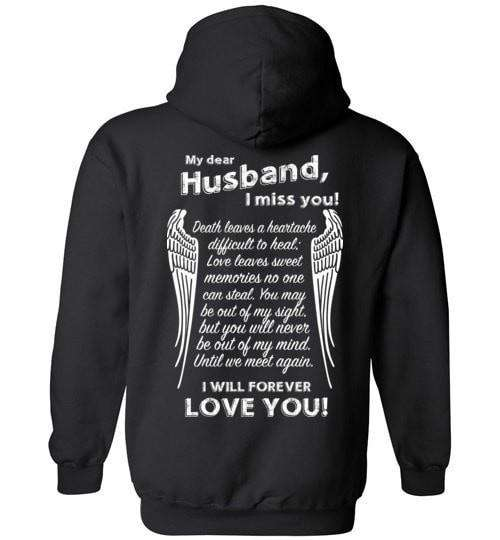 My Dear Husband I Miss You Hoodie - Guardian Angel Collection