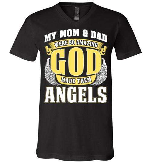 My Mom & Dad Were So Amazing Unisex V-Neck - Guardian Angel Collection