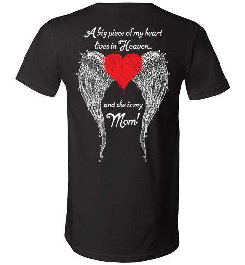 Mom - A Big Piece of my Heart V-Neck