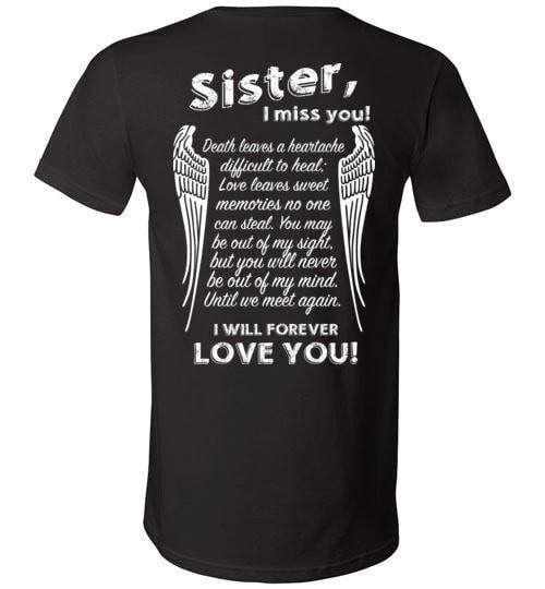 Sister I Miss You Unisex V-Neck - Guardian Angel Collection
