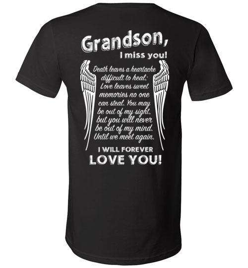 Grandson - I Miss You V-Neck