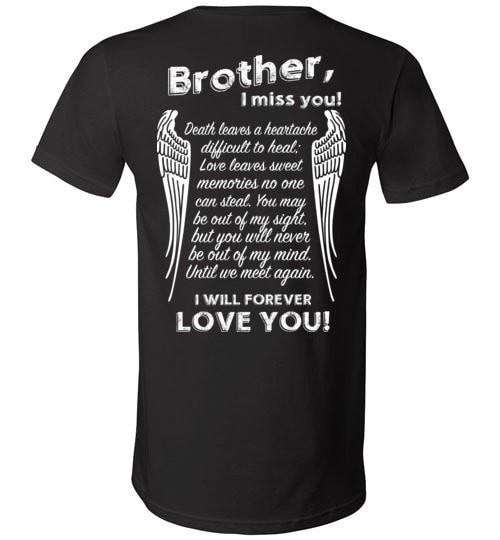 Brother I Miss You Unisex V-Neck - Guardian Angel Collection