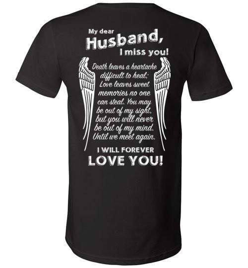 My Dear Husband I Miss You Unisex V-Neck - Guardian Angel Collection