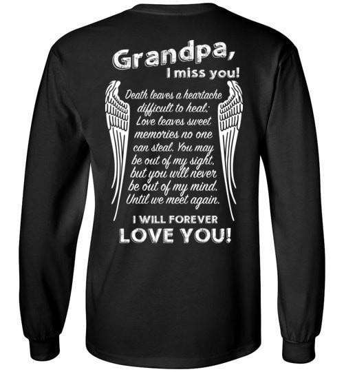Grandpa I Miss You Long Sleeve - Guardian Angel Collection