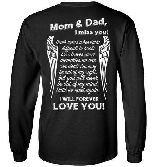 Mom & Dad I Miss You Long Sleeve - Guardian Angel Collection