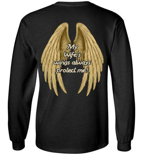 My Wife's Wings Always Protect Me Long Sleeve
