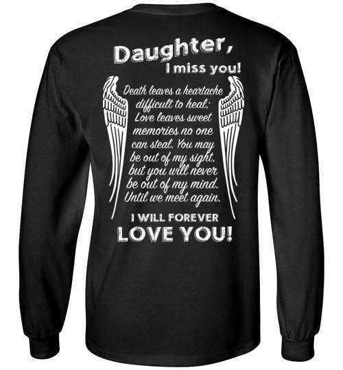 Daughter I Miss You Long Sleeve - Guardian Angel Collection