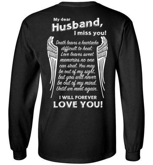 My Dear Husband I Miss You Long Sleeve - Guardian Angel Collection
