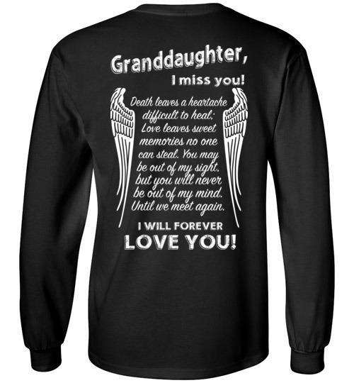 Granddaughter - I Miss You Long Sleeve