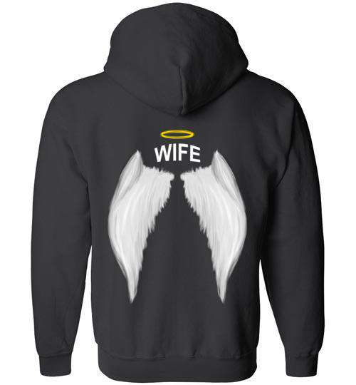 Wife- Halo Wings FULL ZIP Hoodie