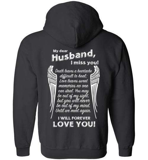 Husband I Miss You FULL ZIP Hoodie
