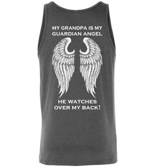 My Grandpa Is My Guardian Angel Unisex Tank - Guardian Angel Collection