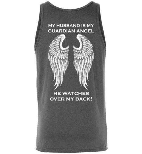 My Husband Is My Guardian Angel Unisex Tank - Guardian Angel Collection