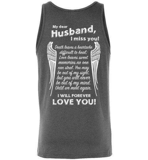 My Dear Husband I Miss You Unisex Tank - Guardian Angel Collection