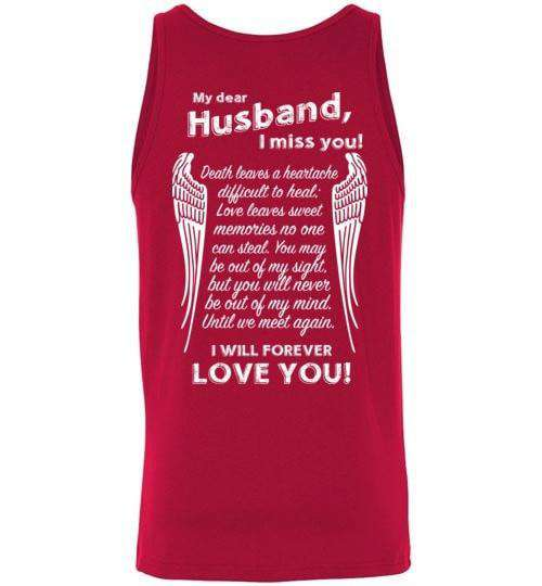 My Dear Husband I Miss You Tank Guardian Angel Collection