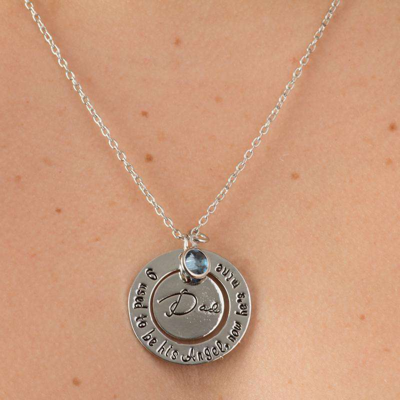 fb4f5dbc11 Dad - I Was His Angel Necklace - Guardian Angel Collection