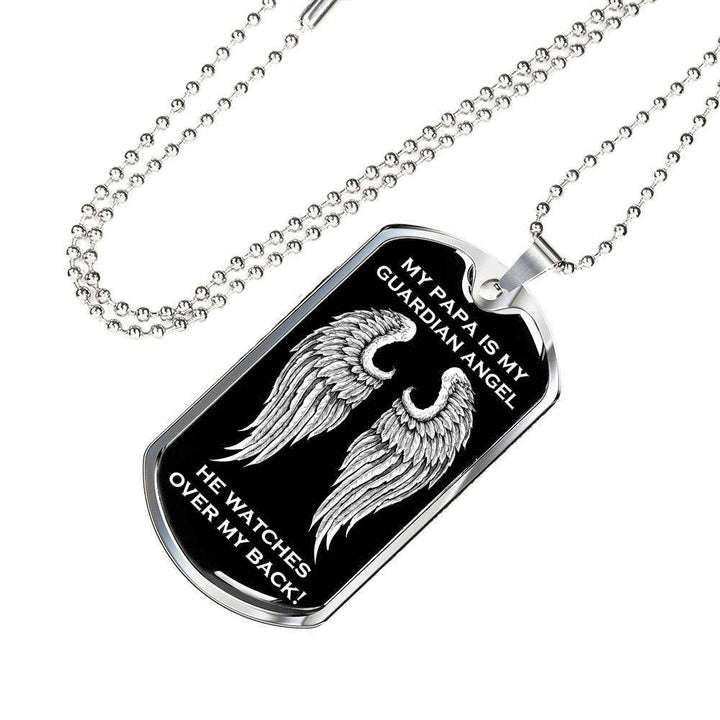 My Papa is my Guardian Angel Luxury Dog Tag